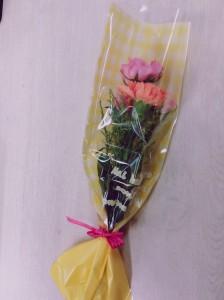 素敵なお花をいただきました。
